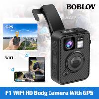 BOBLOV 1440P Wearable Body Camera 64G Waterproof Night Vision 66 inch LCD Screen