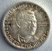 1946 Booker T Washington Silver Half Dollar Commemorative Coin 50c US UNC