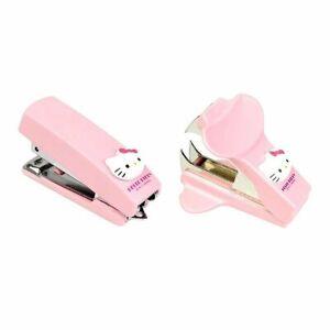 [2-in-1] Sanrio Hello Kitty Pink Mini Portable Stapler + Staple Remover Set