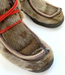Women's girls genuine Topaz of Norway Seal Winter Boots Wool lining size EU 37
