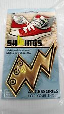 SHWINGS GOLDEN FOIL LIGHTNING BOLTS LACE UP WINGS FOR YOUR SHOES