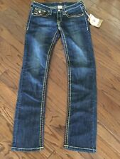 True Religion WORLD TOUR Joey Super T Thick COLOR Stitch  BLING Women 30/33 NWT