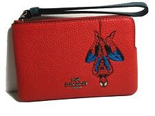 NWT 3583 Coach | Marvel Corner Zip Wristlet with Spider-Man