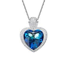 Halskette Titanic Herz des Ozeans Collier mit Swarovski® Kristallen 18K Weißgold