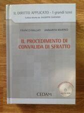Il Procedimento di Convalida di Sfratto Ballati Marino CEDAM MANCA il CD-ROM