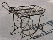 FRENCH provincial PLANTER trolley antique brown  flower cart cottage outdoor New