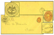 MEXICO ADUANA MARITIMA YELLOW OFFICIAL PSE DE 1885 OFF6