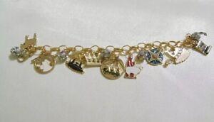 Holiday Lane Gold-Tone Holy Christmas Story Charm Bracelet CHR118B $29