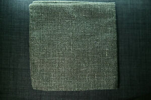 Linen / Wool Textured Pocket Square - Grey - Moss Bros - High Quality RRP £18