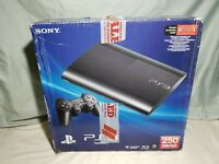 Sony PlayStation 3 Super Slim Console System 1 Controller PS3 in Box 250 GB