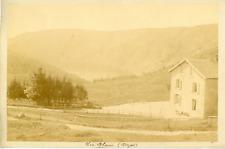 France, massif des Vosges, le lac Blanc, vue panoramique  vintage albumen print,