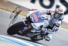 Jorge Lorenzo main signé YAMAHA 18x12 Photo MotoGP 2.