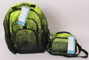 Pottery Barn PB Teen Gear Up backpack & lunch box, lime green & black *sample