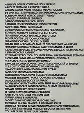 Maurizio Cattelan Ho incontrato Alighiero Boetti, poster originale 2011 50x70 cm
