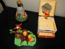 Winnie the Pooh music boxes,and cake top - collectibles