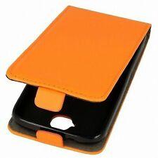 FLIP PROTEZIONE GUSCIO per cellulare Huawei Honor Holly in Pelle Arancione-Finta SLIM GUSCIO FLEX