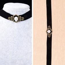 Vintage Black Velvet Retro Choker Collar Bib Necklace Charm Pendant Jewelry LC