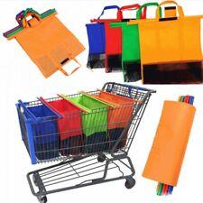 965c49fd94 Set borse per carrello della spesa buste separa acquisti sacchetti con  manici