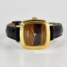 luxus4life: Antike Cartier GG-Uhr 1960/1970ties Handaufzug, Tigerauge -Rarität