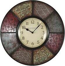 Patchwork Wall Clock Modern Decorative Analog Indoor Art Home Decor 20.5 inch