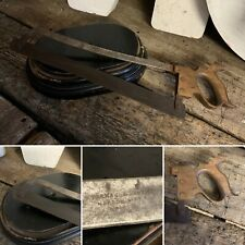 Vintage Antique Butchers Bone Meat Saw Parnall & Sons Metal Wood Wooden Large