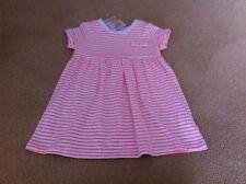 BABY GIRLS SKETCHKIDS PINK/WHITE STRIPE DRESS-BNWT-SIZE 0