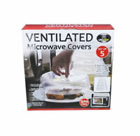 5x Microwave Lid Food Cover Plate or Bowl Covering-Kitchen Tools BPA Free Unbran