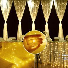 3*3m 300er LED Lichtvorhang mit Fernbedienung LED Lichterkette Innen & Außen