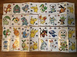 Pokemon 25th Anniversary McDonalds Large sticker set (ALL 32 Stickers)