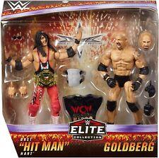 WWE Mattel Elite Bret Hart & Goldberg WCW Wrestling Figures 2-pack