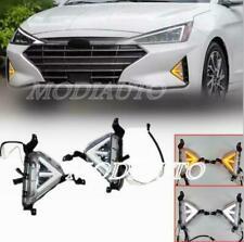 For Hyundai Elantra 2019-20 LED DRL Daytime Running Lights Fog Lamps w/Turn set