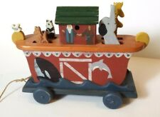 Noah's Ark Wood Pull Toy Musical Heritage Toys Sebec Maine Usa 1993
