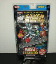 New 2003 Marvel Legends Silver Surfer & Howard Duck Action Figure w/ Comic Book