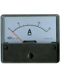 ANALOG EINBAUMESSWERK 15 ADC 72x62x36mm Klasse 2,5 Neuware