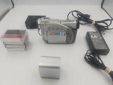 Canon Silver ZR50 MC miniDV Digital Video Camcorder 22x*Complete System! Nice!