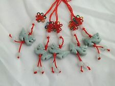 Lot of 5 Chinese Zodiac Butterfly Knot Jade Cell Phone Charm Strap Red DRAGON