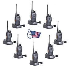 8PCS BaoFeng BF-888S UHF 2-way radio Handheld Walkie Talkie/Interphone Black