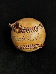 Babe Ruth Signed Baseball Replica SANDLOT Facsimile Signature SOUVENIR ON SALE