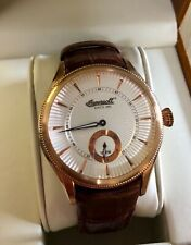 "RARE Ingersoll ""Bloomsbury"" mens watch rosé gold vintage"