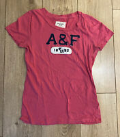 Abercrombie & Fitch Women's T Shirt Pink Short Sleeve Large 100% Cotton