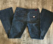 Guess Jeans American Tradition Flare Navy Blue Stretch Vtg Look Womens 27x32