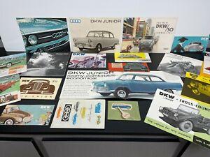 Lot Vintage Original 1960s AUTO UNION DKW AUDI Automobile Dealer SALES BROCHURES