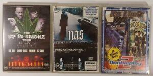 Lot of 5 Hiphop/Rap DVDs CDs NAS, Dr Dre, Snoop Dogg, Eminem, Ice Cube, No Limit