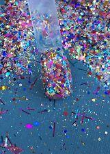 glitter mix acrylic gel nail art    PARTY SEEKER