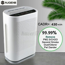 AUGIENB 5-Stage HEPA Air Purifier For Home Large Room Smoke Odor Pets Dust 28db