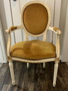 Vintage Victorian Nail Head Parlor Chair