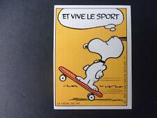 Autocollant sticker La Vache qui Rit - SNOOPY - Et vive le sport - Skate board.