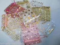 PREMIUM QUALITY ORGANZA GIFT BAGS WEDDING FAVOUR VARIOUS COLOURS 7cmx7cm UK SELL