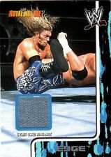 WWE Edge Royal Rumble 2002 Fleer Event Used Ring Mat Card