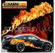 Adesivi fiamme cm 150x32 -real effect- adesivo fiamma fuoco per auto 4x4 camion